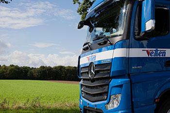 Vetten-Gruppe Mönchengladbach Transporte Schubboden Tautliner Sattelzug